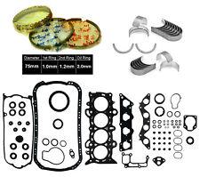 01-05 Honda Civic EX HX D17A2 1.7 SOHC *COMPLETE FULL SET RINGS ENGINE BEARINGS