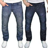 Enzo Mens Designer Branded Classic Regular Fit Straight Leg Jeans, BNWT