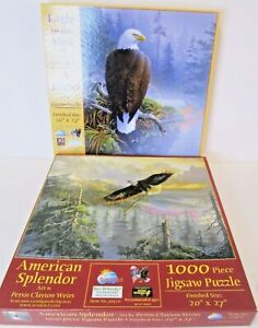 Sunsout 2 puzzles with eagles American Splendor and Eagle in the Mist  20*27