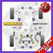 BMW E46 M3 99-06 Rr Subframe Bushes, FastRoad Wishbone Bushes Powerflex Full Kit