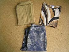 Bekleidungspaket Damen Bluse, 3/4 Hose Heine, Rollkragen Top Gr. 40