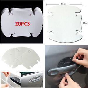 20PCS Invisible Clear Car Door Handle Paint Scratch Protector Guard Films Sheets