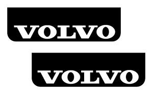 VOLVO Lorry HGV Truck Mudflaps 18 x 60cm Smooth Black PVC Mud Flaps White Text