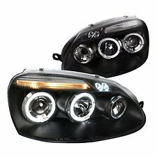 DUAL HALO LED PROJECTOR HEADLIGHTS FOR 06-08 VOLKSWAGEN GOLF JETTA RABBIT