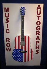 PETER MAX Signed Autograph USA American Flag Acoustic Guitar w/ Sketch RARE JSA