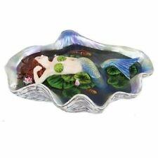Sheila Wolk Elan Vital Ariel Mermaid With Koi Fishes in Clam Shell Pond Statue