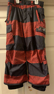 BURTON DRYRIDE Youth All Access Sz Small 5/6 Ski Snowboard Pants Red/black