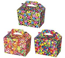 16 Candy Sweet Treat Boxes ~ Party Food Lunch Box ~ Pick N Mix Sweetie Lollypop