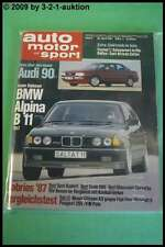 AMS Auto Motor Sport 9/87 * BMW Alpina B11 Audi 90 Saab 900 Cabrio