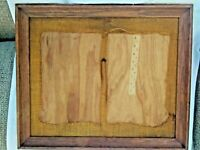 """ANTIQUE/VINTAGE OAK PICTURE FRAME """"Hand Crafted"""" 25  x 21 """" outer."""