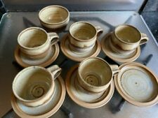 Set of small coffee/espresso cups and saucers Canterbury Pottery