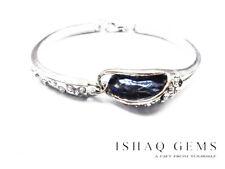 Beautiful Sky Blue Crystal Rhinestone Silver Bracelet Women's Gifts For Her