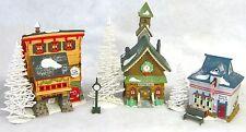 Dept 56 North Elves Trade School, North Pole Chapel, Beard Barber Shop, & more!