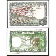 GUINEA ECUATORIAL 5000 Bipkwele on 500 Pesetas 1980 UNC P 19