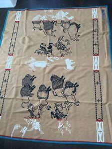 "Vintage Native Pendleton Wool Blanket ""White Buffalo Calf Woman"" Beaver State"