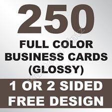 250 CUSTOM FULL COLOR BUSINESS CARDS | 16PT | GLOSSY UV FINISH | FREE DESIGN