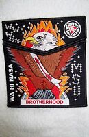 OA WA HI NASA LODGE 111 MID TN 2-PATCH BROTHERHOOD MSU 100TH ANN 2015 NOAC FLAP