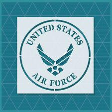 US U.S. United States Air Force Stencil - 11x11 8x8 5.5x5 - Reusable Mylar
