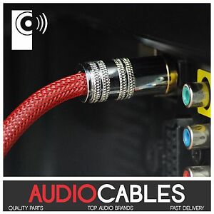 5m PRo MASTER TOSLink AV CABLE (Fibre Optic Digital Audio Cable /Optical) TcR5