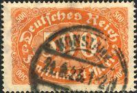 ALLEMAGNE / Deutsches Reich - 1923 - Mi.251 500Mk gelblichrot - Used KONSTANZ