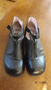 Hochwertige Grinto Lagenlook  Schuhe Gr. 39 schwarz Echtleder innen und aussen