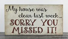 PRIMITIVE COUNTRY WOOD HOUSE HUMOR SIGN HANDMADE INSPIRATIONAL HOME DECOR 1453