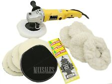 "7"" Variable 6 Speed Electric Car Polisher Buffer w/ Bonnets + 3 Little Trees FSN"