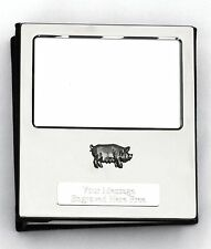 Pig Design Silver Personalised Photo Album FREE ENGRAVING 100 Photos