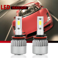 2Pcs Low Beam Fog Lights LED Headlight Bulbs H11 H9 H8 180W 18000LM 6000K White