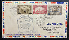 1933 Charlottetown Canada First Flight Airmail Cover To Timaru New Zealand
