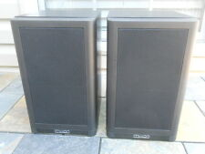 Vintage 1980's Mission Model 760 Two-Way Bookshelf Speakers, Black, One Pair