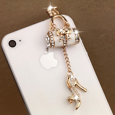 Crystal Bling Anti Dust Earphone Plug Ear Jack Cap Charm For Cell phone 3.5mm