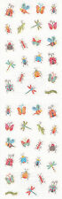 Mrs. Grossman's Stickers - Sparkle Micro Bugs - Ant, Butterfly, Beetle -3 Strips