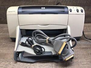HP Deskjet 940C Standard Inkjet Printer with power cord, USB & IEEE Cable Works!