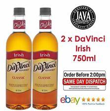 2 x DaVinci Classic Irish Cream Syrup 750ML