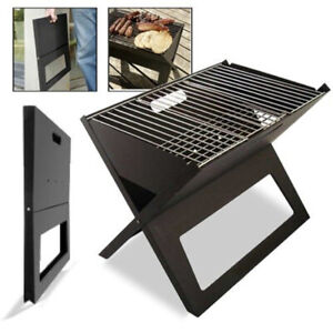 Outdoor Picnic Camping Bbq Portable Foldable Notebook Size Folding Charcoal Bbq