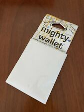 Mighty Wallet Eco Friendly Tyvek Blank Make Your Own Design New White DIY