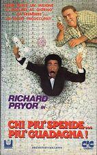 Chi più spende... più guadagna! (1985) VHS  CIC  Video 1a Ed. - Richard PRYOR