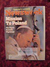 NEWSWEEK June 20 1983 6/20/83 Pope John Paul Ii Poland Margaret Thatcher Britain