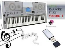 MIDI File Karaoke USB stick for PSR S500 Vol 1