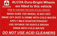 ALCOA WHEEL STICKER - VOLVO DAF MERCEDES IVECO MAN ERF SCANIA TRUCK COACH