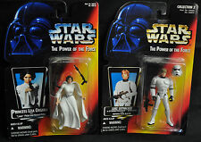 Stormtrooper Luke & Leia Star Wars Lot 2 Power of the Force - Kenner (1995) WH