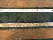 """Montgomery in raso di cotone a righe apoleonic"""" """"Verde, Oro & Blu a Righe x 1 METRI"""