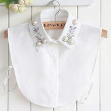 d2a11d77c729b Women Detachable False Collar Plaid Lapel Half Shirt Blouse Bib Choker  Necklace