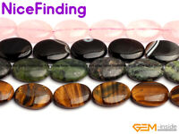 """Natural 18X25mm Oval Gemstone Beads For Jewelry Making Strand 15"""" Assorted Stone"""