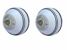 CW Pack of 2 Spin PVC White Cricket Ball For Training &Practice Indoor/ Outdoor