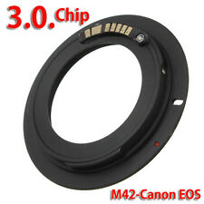 AF III Confirm M42 Chips Lens to Canon EOS EF Mount Ring Adapte 550D 7D 5D E F M