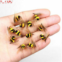 6pcs/Lot Artificial Insect Hook Bait Bumble Bee Tackle Fly Trout Fishing Lures