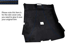 BLUE STITCH ROOF HEADLINING PU SUEDE SKIN COVER FITS BMW 3 SERIES E46 COUPE