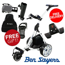 Ben Sayers Electric Golf Trolley Lightweight with 36 Hole Battery + Free Gifts